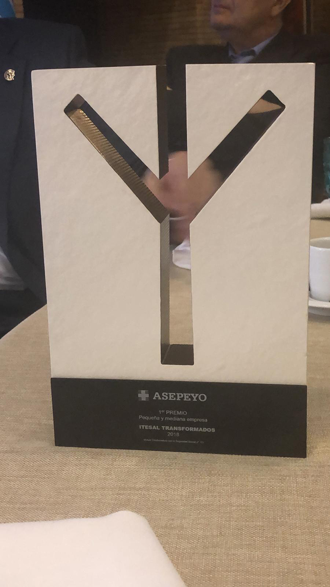 Itesal Transformados 1er Premio Nacional ASEPEYO a  Excelentes prácticas preventivas.