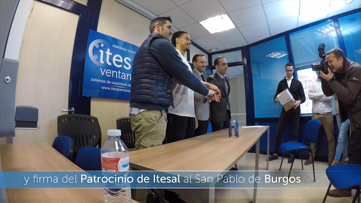 Firma del Patrocinio de Itesal al San Pablo Burgos Basket