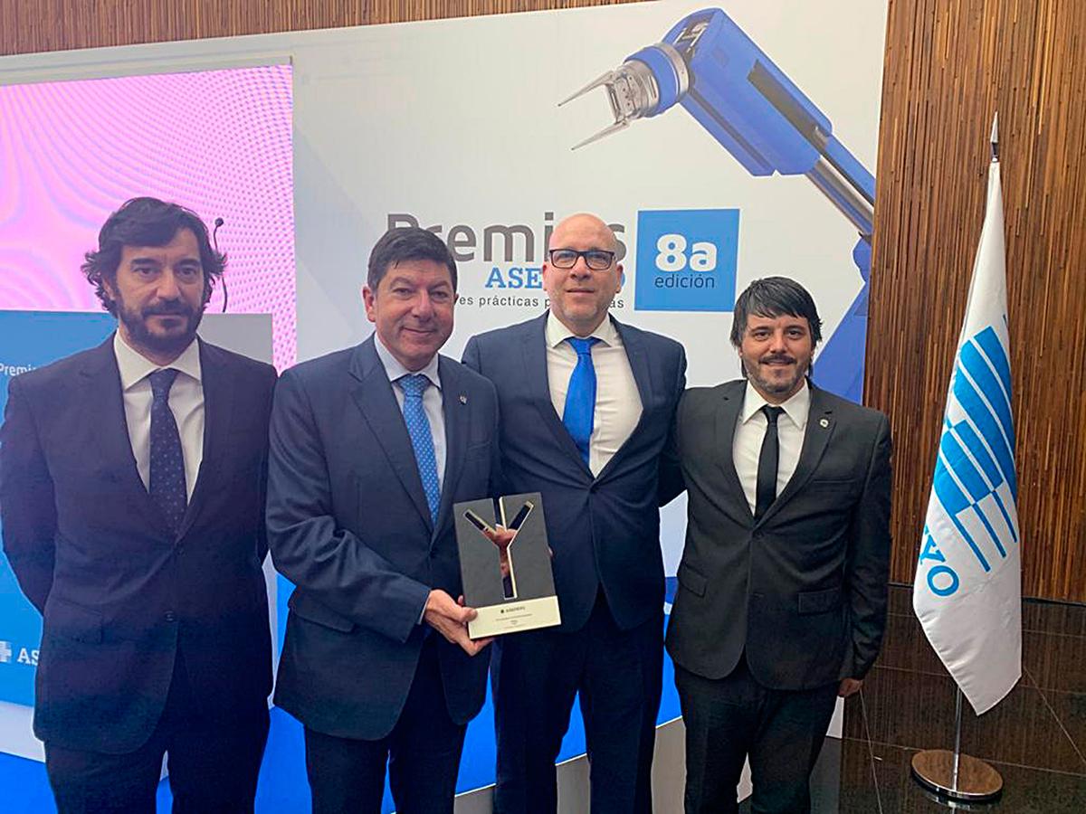 Asepeyo galardona a Itesal por cuarta vez y premia su trayectoria de prevención