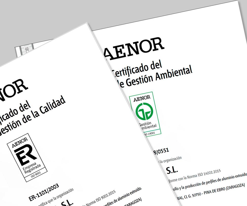 ISO AENOR 9001 Y 14001 Calidad y medioambiente garantizados en Itesal
